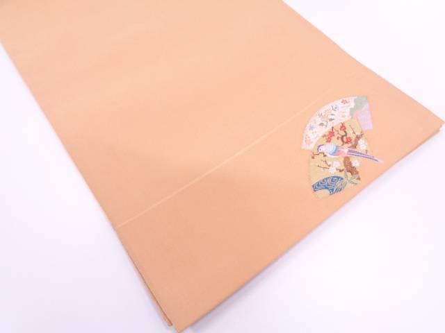 リサイクル 綴れ地紙に花鳥模様織出し袋帯【送料無料】