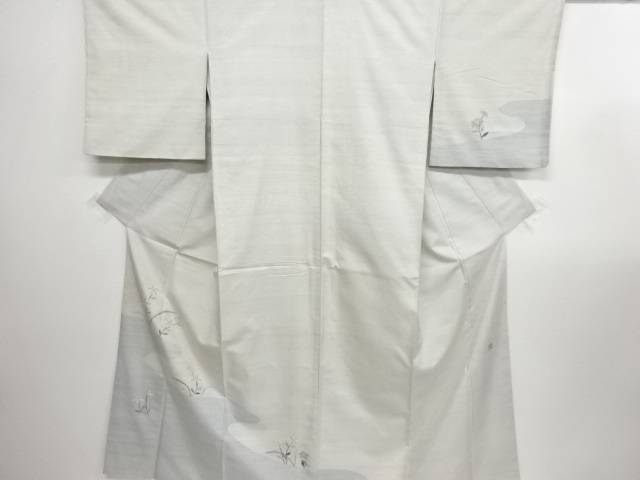 リサイクル 作家物 霞に小花模様織り出し手織り節紬訪問着【送料無料】