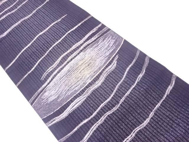 リサイクル 変わり横段模様織出し袋帯【送料無料】