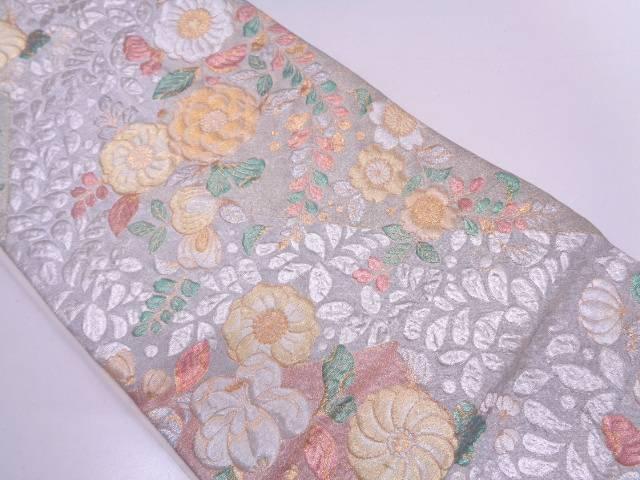 【セール30%オフ】リサイクル 纐纈辻ヶ花模様織出し袋帯【送料無料】