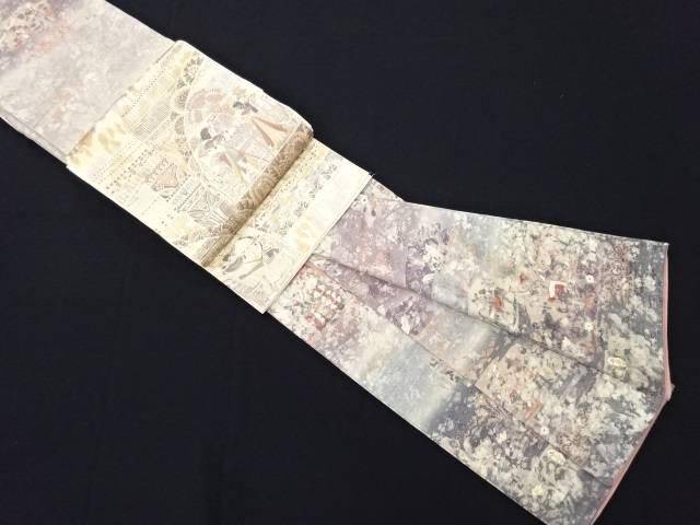 リサイクル 金彩エジプト壁画模様訪問着・袋帯セット【送料無料】