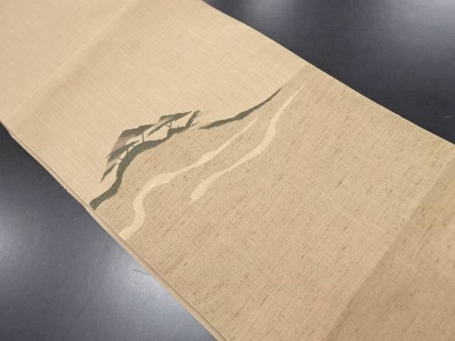 リサイクル 未使用品 樹木風景模様織り出し名古屋帯【送料無料】