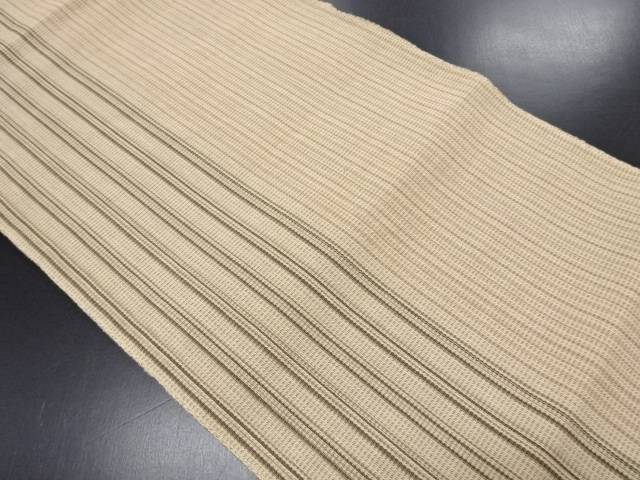 リサイクル 羅縞織り出し名古屋帯【送料無料】
