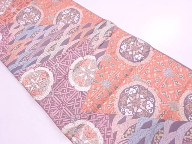リサイクル 唐織切り嵌め風花に荒波模様織出し袋帯【送料無料】