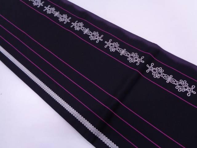 リサイクル 未使用品 SEIKO MATSUDA 縞に抽象模様織出し袋帯【送料無料】