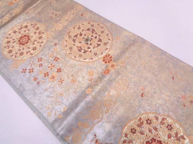 リサイクル 天竺更紗華紋模様織出し袋帯【送料無料】