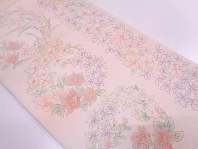 リサイクル 相良刺繍花丸文様織出し袋帯【送料無料】