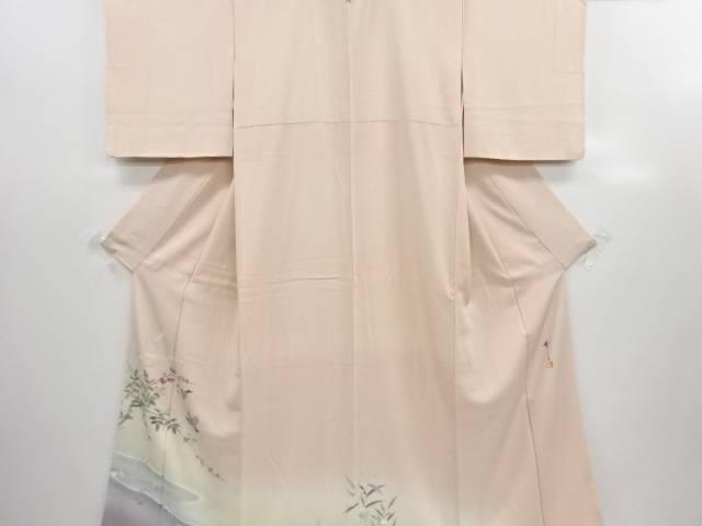 リサイクル 安達華生作 手描き雀に枝の実模様一つ紋色留袖【送料無料】