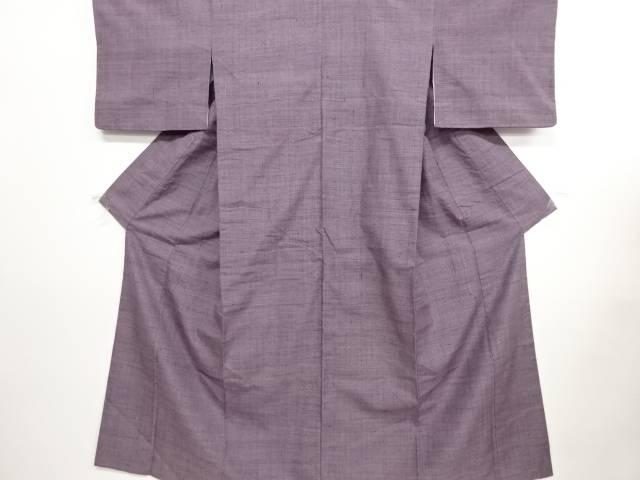 リサイクル 三崩し織り出し手織り真綿紬着物【送料無料】