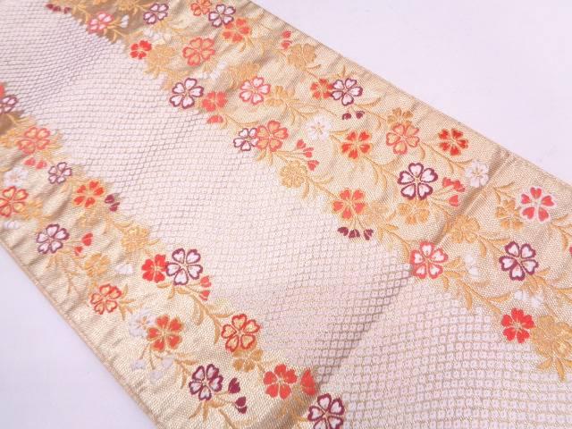 リサイクル 枝垂れ桜模様織出し袋帯【送料無料】