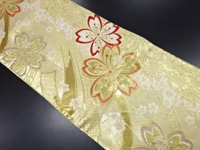 リサイクル 佐賀錦桜模様織り出し袋帯【送料無料】