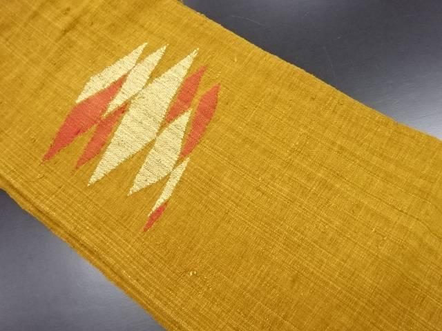 リサイクル 手織り真綿紬抽象模様織り出し名古屋帯【送料無料】