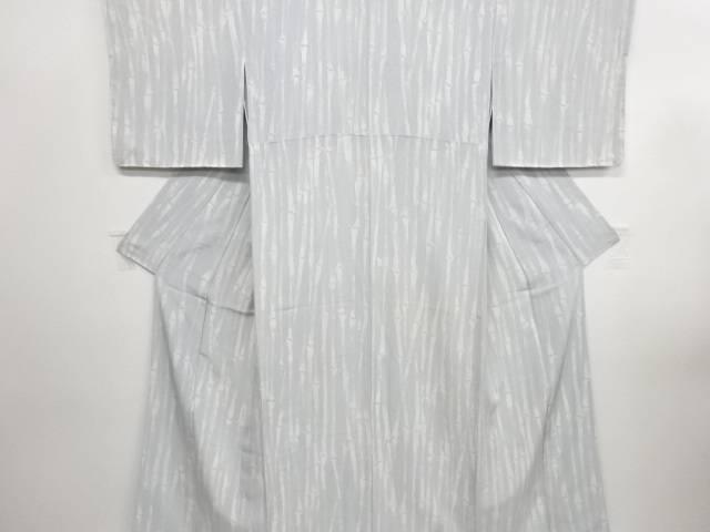リサイクル 未使用品 竹縞模様小紋着物【送料無料】