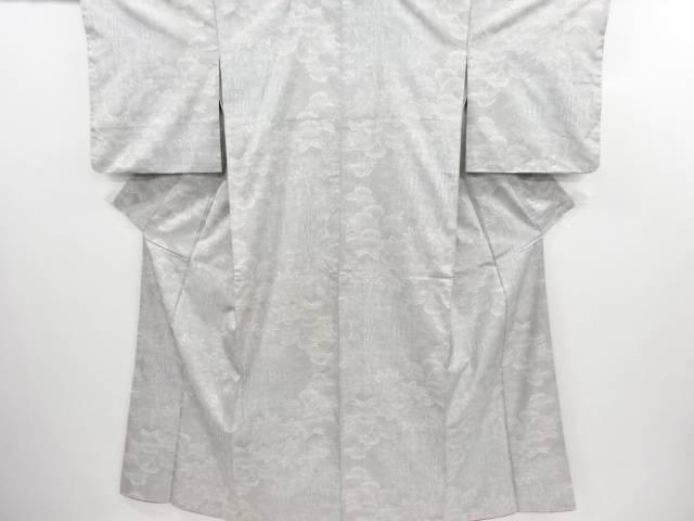 リサイクル 松笹模様織り出し本場白大島紬着物(5マルキ)【送料無料】