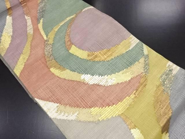 リサイクル 絽本金線描き模様織り出し袋帯【送料無料】