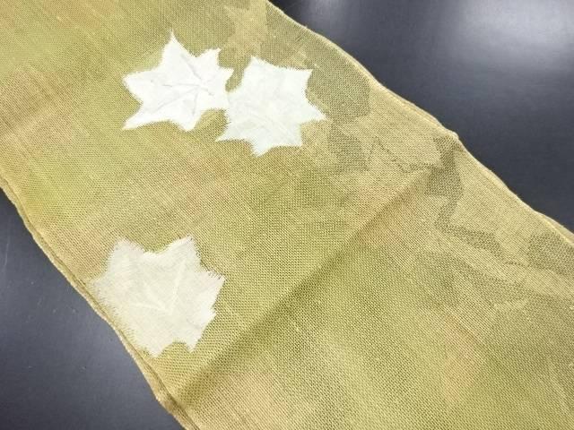 リサイクル 紗紬楓模様織り出し名古屋帯【送料無料】