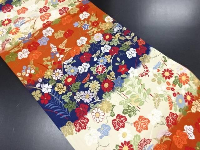 リサイクル 金糸桐に秋草模様織り出し本袋帯【送料無料】