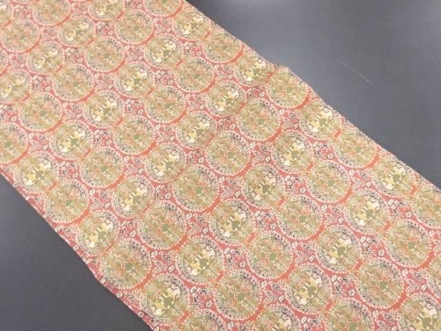 リサイクル 龍村美術織物製 正倉院文様織り出し開き名古屋帯(額縁仕立て)【送料無料】
