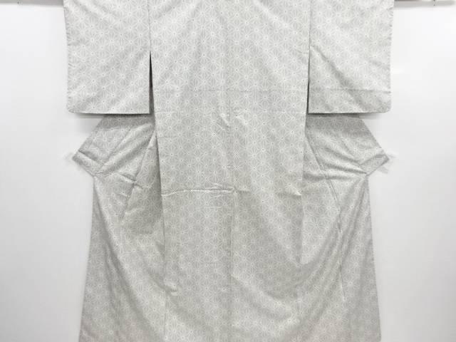 リサイクル 麻の葉模様織り出し本場白大島紬着物(5マルキ)【送料無料】