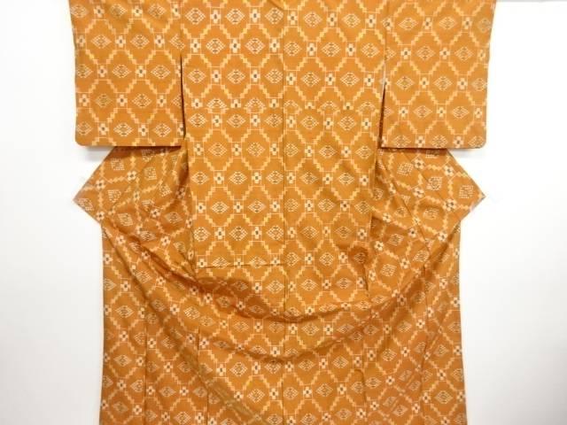 リサイクル 本場琉球絣手織り紬着物【送料無料】