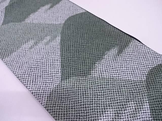 リサイクル 未使用品 遠山に疋田模様織出し袋帯【送料無料】