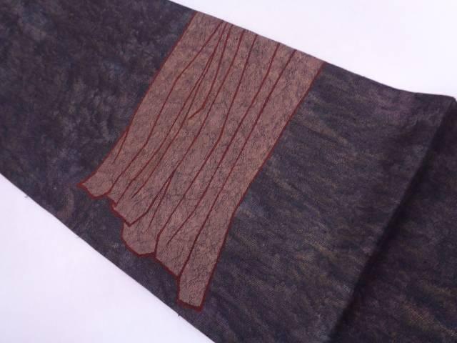 【セール30%オフ】リサイクル 抽象模様織出し袋帯【送料無料】