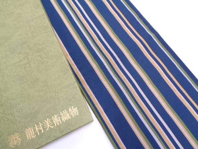 【セール20%オフ】新品 龍村美術織物 たつむら製 とくさ間道袋帯(未仕立て)【送料無料】