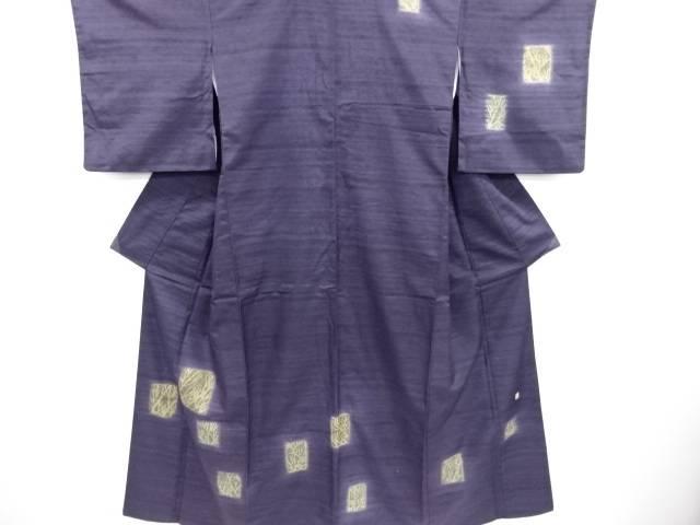 リサイクル 作家物 色紙に木立模様手織り真綿紬訪問着【送料無料】