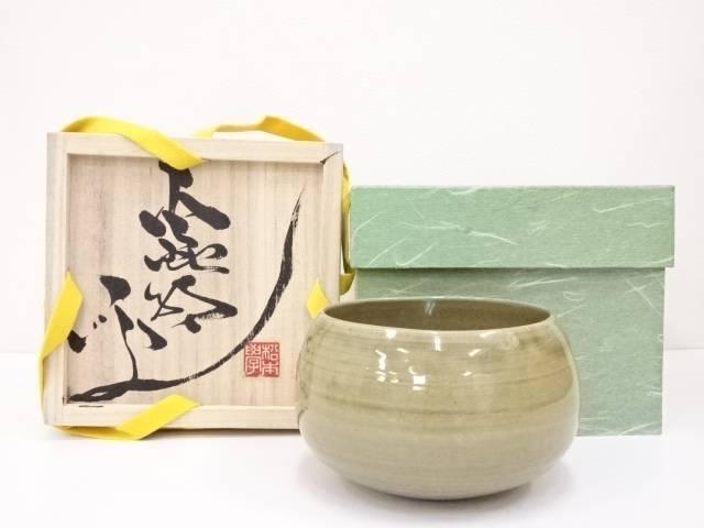 【茶道具】虫明焼 松本学造 茶碗【送料無料】