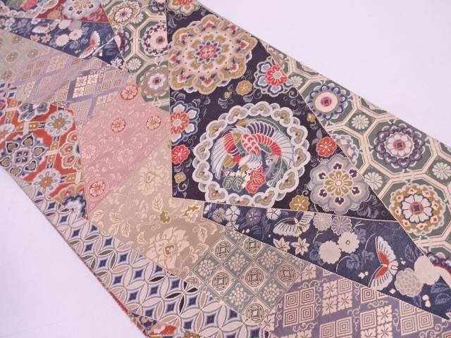 【セール30%オフ】リサイクル 切嵌風花鳥模様織出し袋帯 【送料無料】