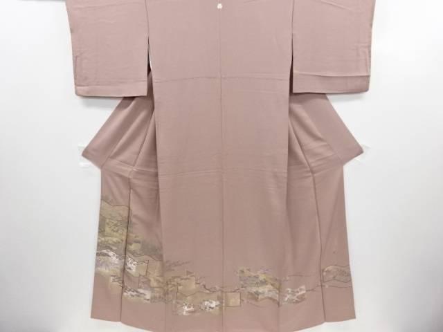 リサイクル 寿光織屏風に桜・楓・鴛鴦模様織り出し一つ紋色留袖【送料無料】