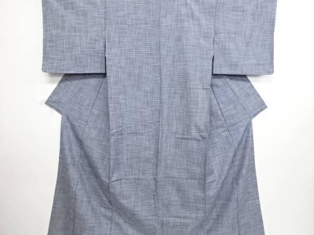 リサイクル 乱れ格子織り出し手織り真綿紬着物【送料無料】