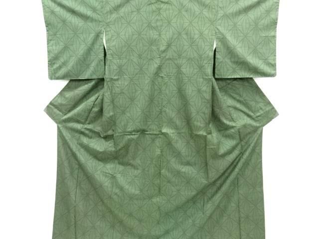 リサイクル 麻の葉模様織り出し本場泥大島紬着物(5マルキ)【送料無料】