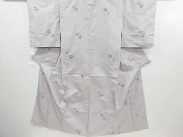リサイクル 鈴・玩具模様織り出し手織り紬単衣着物【送料無料】