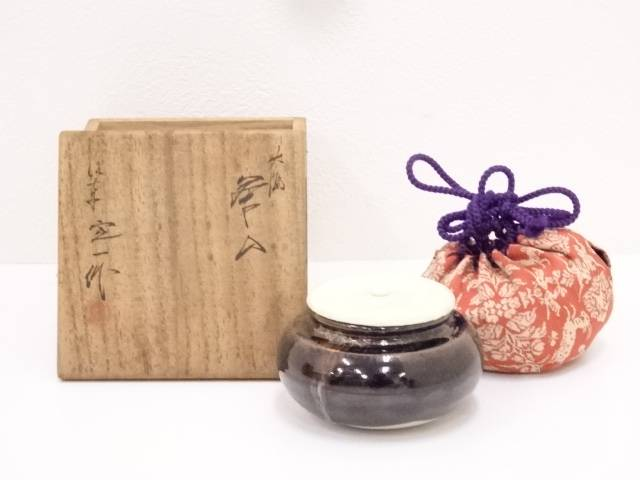 【茶道具】桶谷定一造 大海茶入【送料無料】