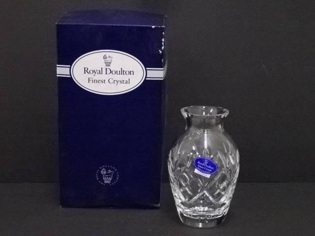 【ガラス】Royal Doulton ロイヤルドルトン ガラス花瓶【送料無料】