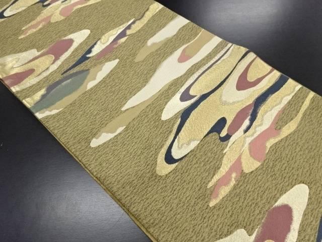 【セール30%オフ】リサイクル 霞模様織り出し袋帯【送料無料】