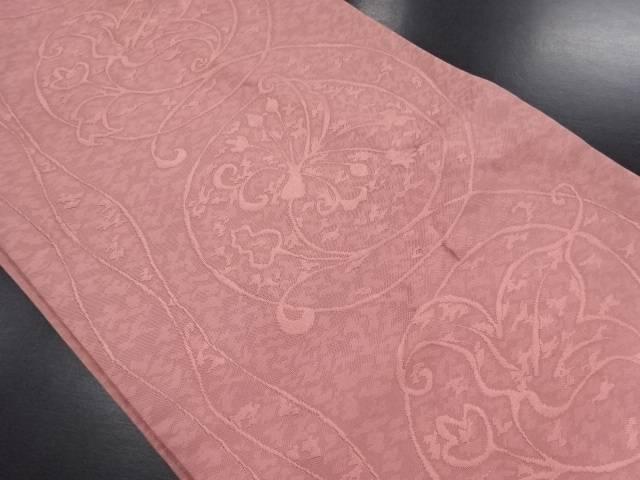 【セール30%オフ】リサイクル 変わり花唐草模様織り出し洒落袋帯【送料無料】
