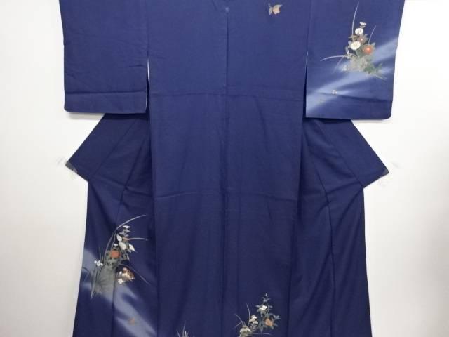 リサイクル 草花に鴛鴦模様刺繍一つ紋訪問着【送料無料】