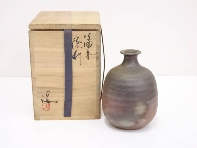 【陶芸・陶器】備前焼 伊勢崎満造 徳利【送料無料】