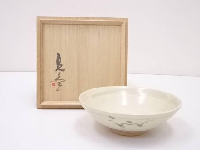 【茶道具】横山光ノ介造 絵高麗手茶碗【送料無料】