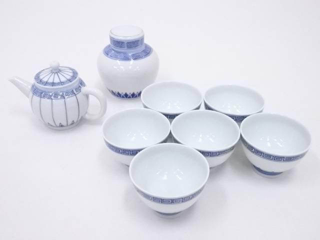 【煎茶道具】京焼 和峰造 染付煎茶器セット【送料無料】