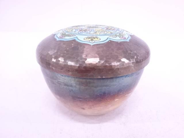 【金属】AG99 花唐草紋蓋物(386グラム)【送料無料】