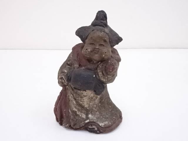 【ハッピーサマーセール40%オフ!】【陶芸・陶器】古物 人形屋鵤幸右衛門造 お福人形【送料無料】