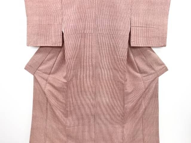 【歳末セール!40%オフ!】リサイクル 縞模様手織り節紬着物【送料無料】[和服/和装/着物]
