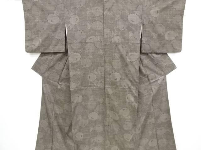【歳末セール!40%オフ!】リサイクル 菊模様織り出し本場泥大島紬着物(5マルキ)【送料無料】[和服/和装/きもの]