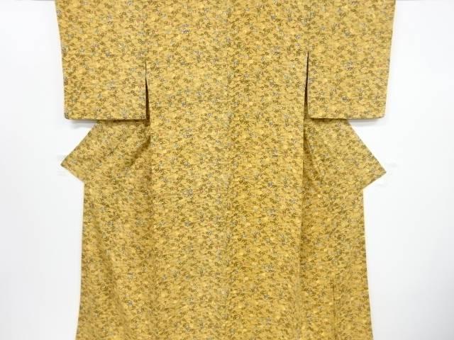 リサイクル 本場琉球紅型縮緬地竜田川模様小紋着物【送料無料】[和服/和装/着物/きもの]