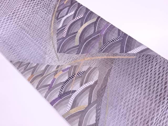リサイクル 綾羅すくい織青海波模様織出し袋帯【送料無料】[和服/和装/着物/きもの/帯]