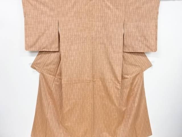 リサイクル 未使用品 立涌模様織出手織り節紬着物【送料無料】[和服/和装/きもの]
