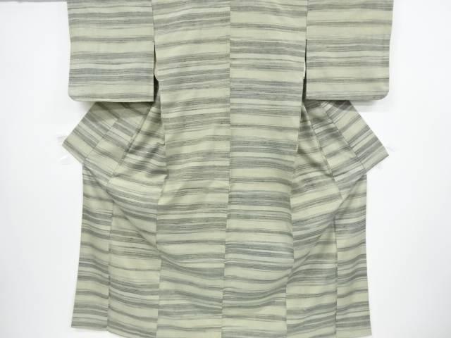 【歳末セール!40%オフ!】リサイクル 未使用品 横段織出手織り真綿紬着物【送料無料】[和服/和装/きもの]